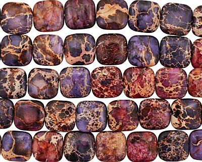 Purple Impression Jasper Puff Square 20mm
