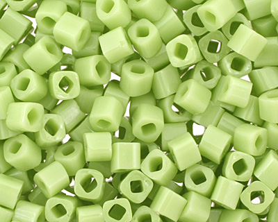 TOHO Opaque Sour Apple Cube 1.5mm Seed Bead