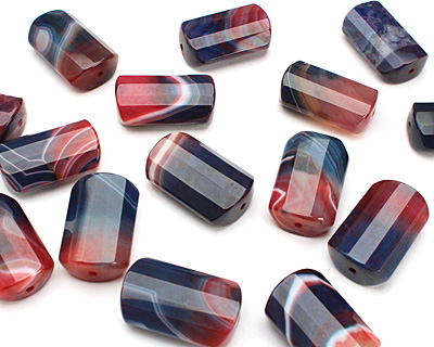 Twilight Agate Faceted Pillow 32-34x20-21mm