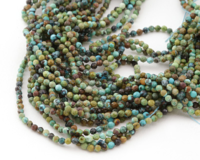 Hubei Turquoise Faceted Round 2-2.5mm