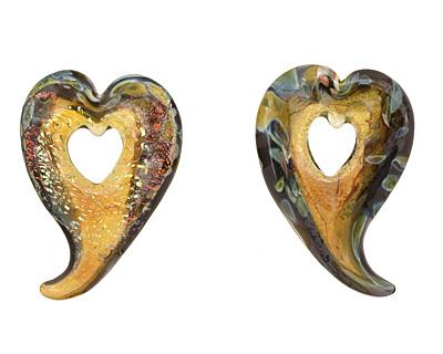 Grace Lampwork Manzanita Wild Heart Focal 27x38-41mm