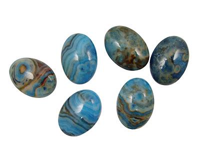 Larimar Blue Crazy Lace Oval Cabochon 18x25mm