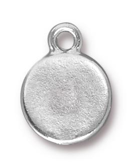TierraCast Rhodium (plated) Stepped Bezel Drop w/ Amethyst Crystal 12x17mm