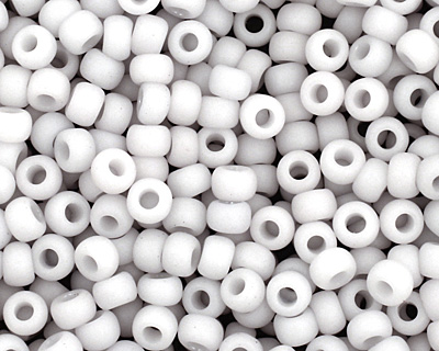 TOHO Opaque Pastel Frosted Light Gray Round 11/0 Seed Bead