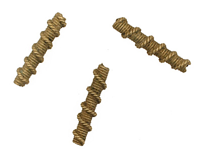 African Brass Roped Tube 32-34x7mm