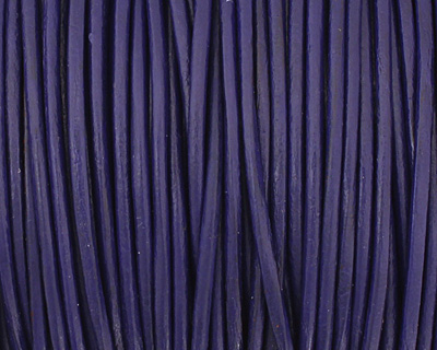 Royal Blue Round Leather Cord 1.5mm