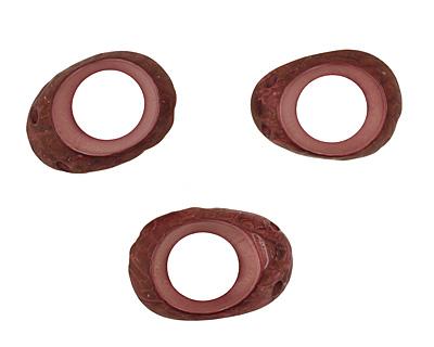 Tagua Nut Violet Open Slice (side drilled) 33-45x24-36mm