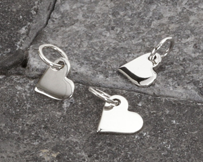 Nina Designs Sterling Silver Tiny Heart Charm 6x10mm