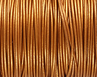 Indian Sun (metallic) Round Leather Cord 2mm