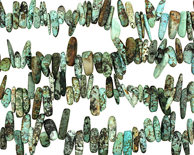 African Turquoise Stick 3-5x14-24mm