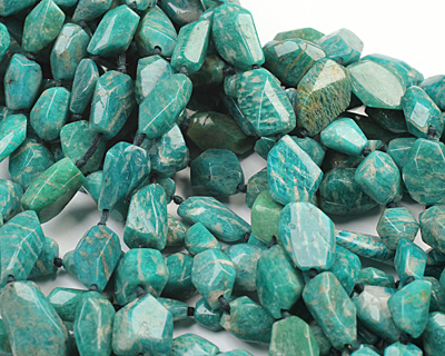 Russian Amazonite Faceted Nugget 12-20x8-13mm