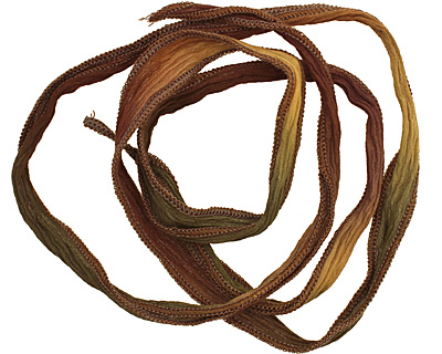 Sunflower Blend Hand Dyed 100% Silk Ribbon 1/2
