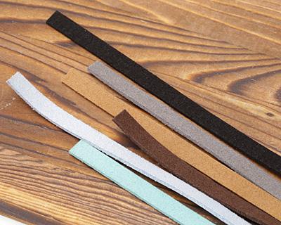 Dark Brown Microsuede Flat Cord 7mm