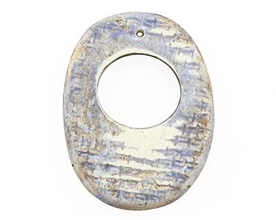 Humble Beads Polymer Clay Summer Rain Oval Toggle 33-35x25-26, 26 bar