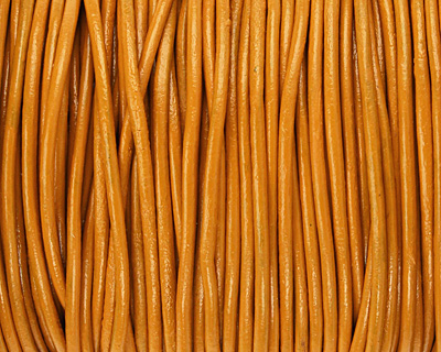 Marigold Round Leather Cord 2mm