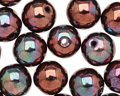 Czech Glass Luster Metallic Amethyst Round 6mm