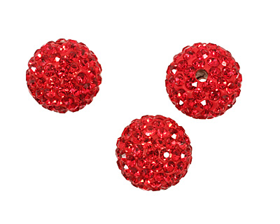 Siam Ruby Pave Round 12mm (1.5mm hole)