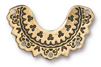 TierraCast Antique Gold (plated) Marrakesh Link 23x17mm