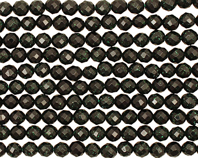 Green Goldstone Faceted Round 6mm