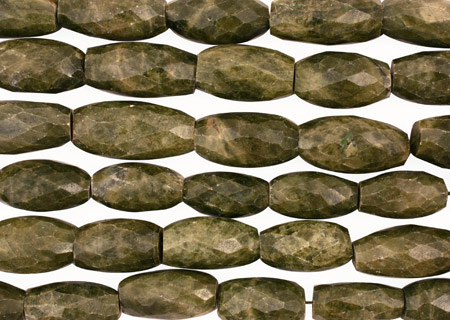 Vessonite Faceted Rice 26-33x14-17mm