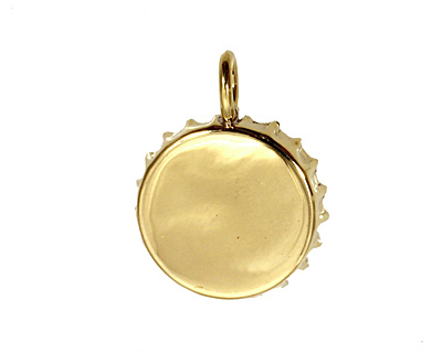 Brass Bottle Cap Bezel 30mm