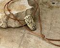 Dalmatian Jasper Drop Pendant (large hole) 27x53mm