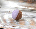 Walnut Wood & Lavender Resin Bead 15mm