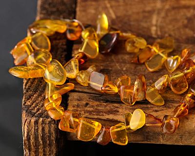 Amber Nugget Drop 5-10x7-14mm