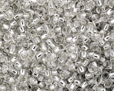 TOHO Crystal (with Silver Lining) Round 15/0 Seed Bead
