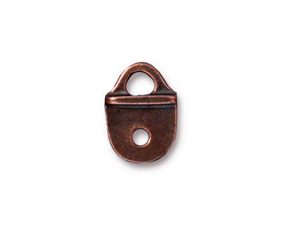 TierraCast Antique Copper (plated) Rock & Roll Strap Tip 16x12mm
