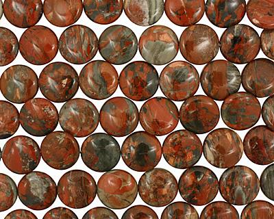 Gray Rainbow Jasper Puff Coin 20mm