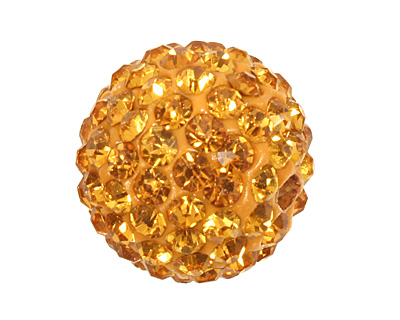 Topaz Pave Round 12mm (1.5mm hole)