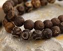 Tibetan (Dzi) Agate Dark Round 8mm