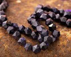 Blue Goldstone Star Cut Round 7-8mm