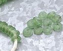 African Recycled Glass Bottle Green Mini Donut 12mm