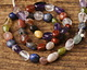 Multi Stone (Red Jasper, Amethyst, Lapis, Peridot) Tumbled Nugget 6-10mm