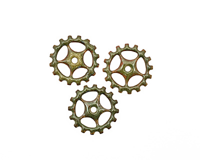 C-Koop Enameled Metal Olive Sectioned Gear 19mm