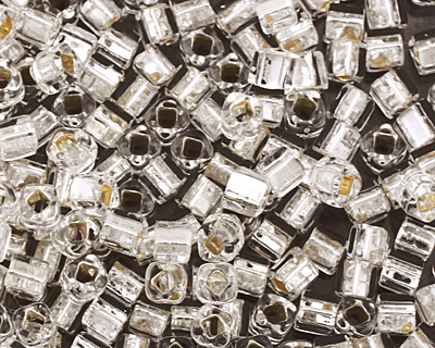 TOHO Crystal (with Silver Lining) Cube Seed Bead 3mm