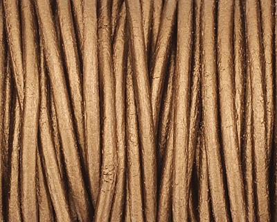 Kansa (metallic) Round Leather Cord 2mm