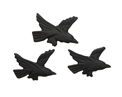Black Onyx (matte) Carved Bird 27-31x40-42mm