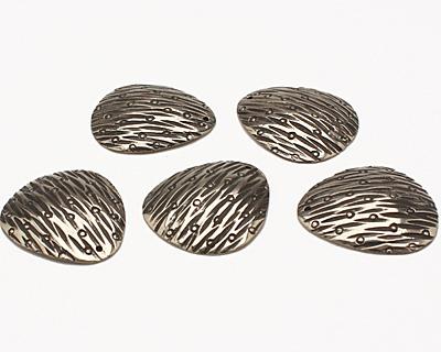 Saki White Bronze Patterned Pendant 28x31mm