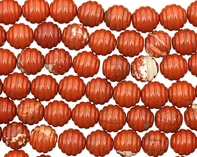 Red Jasper Carved Round 12mm