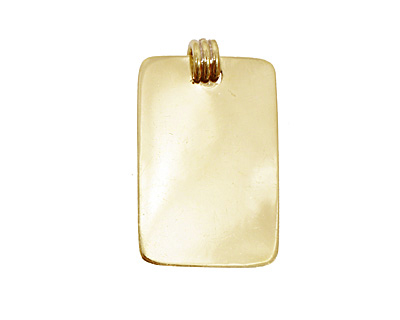 Brass Lipped Rectangle Bezel 15x28mm