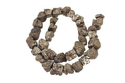 Golden Pyrite (silver tone) Rough Nugget 10-19x11-14mm