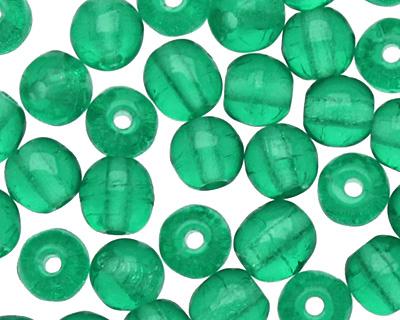 Czech Glass Emerald Round 4mm