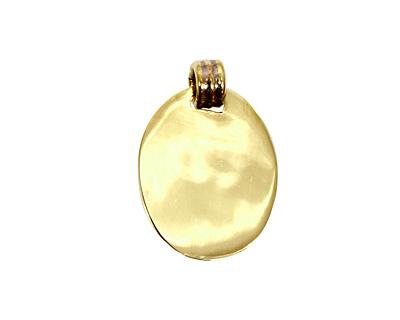 Brass Lipped Oval Bezel 15x20mm