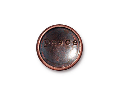 TierraCast Antique Copper (plated) Rock & Roll Snap Cap 18mm