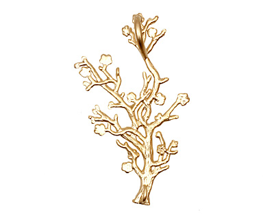 Ezel Findings Gold (plated) Coral Reef Link 43x27mm