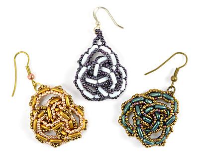 Celtic Knot Earrings Pattern for CzechMates