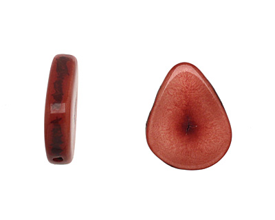 Tagua Nut Rhubarb Banana Chip 22-29x16-22mm